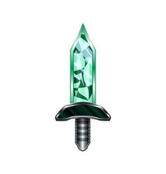 sword cartoon medieval weapon vector image
