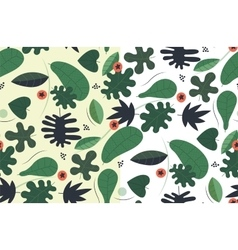 Transparent seamless green pattern vector image