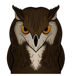 cartoon clip art owl mascot vector image vector image