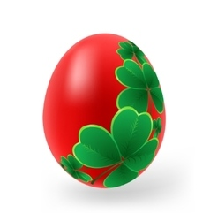 Easter eggs with decor elements vector image
