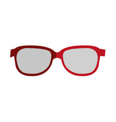glasses view isolated icon vector image