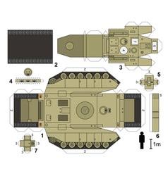 Paper model of a tank vector
