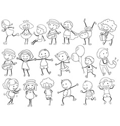 Simple kids doodle vector image vector image