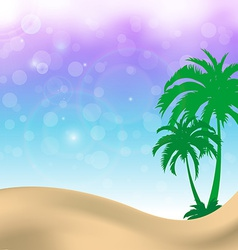 sweet palm trees summer background vector image