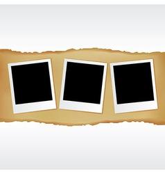 Blank Photos vector image