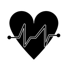 heart beat pulse cardiac medical pictogram vector image vector image