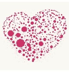 Splatter heart vector image vector image