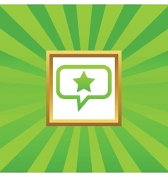 Star message picture icon vector image vector image