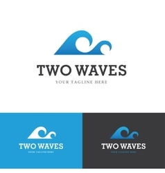 Two waves logo vector image