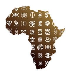 African ethnic symbols vector