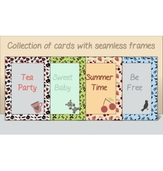 Collection of Card postcards Frames Made of vector image vector image