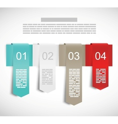 Design template with ribbons vector image