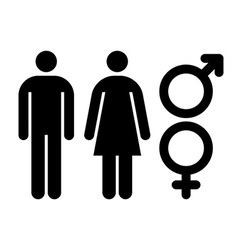 Male and female sign Gender symbol vector image vector image