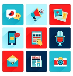 Media icons flat vector image