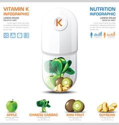 Vitamin K Chart Diagram Health And Medical vector image