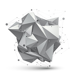 Abstract 3D structure polygonal network object vector image