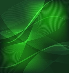 Abstract green wave line background vector