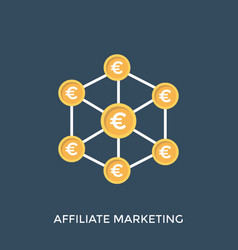 Affiliate marketing network vector