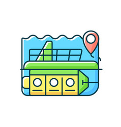 Atlantis submarines rgb color icon vector