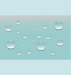 Background blue with water drops vector