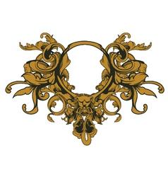 Baroque floral ornament vector
