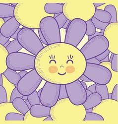 beautiful flower cartoon vector image