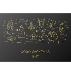 Black card for the Christmas and New Year vector image