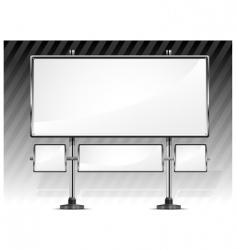 blank billboard vector image