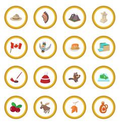 Canada icon circle vector