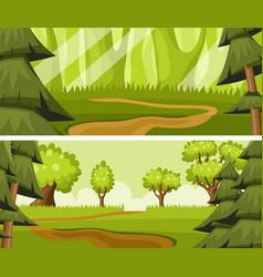 cartoon summer forest vector image