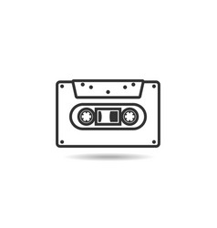 cassette icon flat isolated on white background vector image