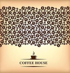 cofee horizontal backg vector image