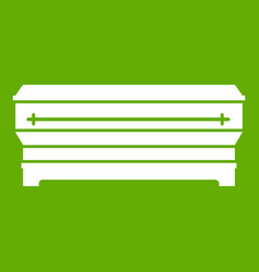 coffin icon green vector image