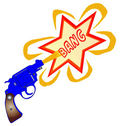 comic gun bang vector image