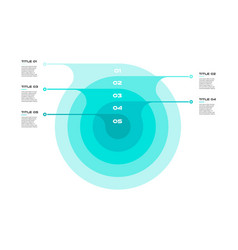 concentric infographics step by step in a series vector image