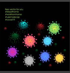 Coronavirus disease covid-19 infection medical vector
