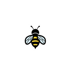 Creative geometric bee logo vector
