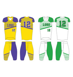 Custom design american football uniforms green vector
