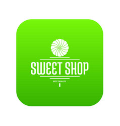 dessert shop icon green vector image