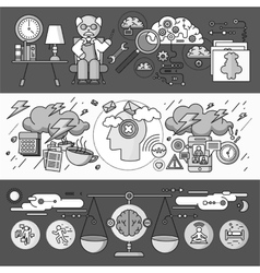 Diagnosis of Brain Psychology Flat Design vector image