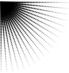 diminishing halftone dots vector image