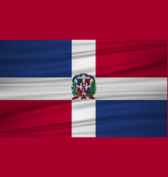 dominican republic flag flag of dominican vector image