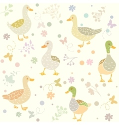 ducks seamless vector image