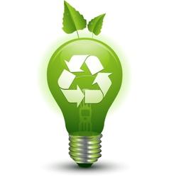 ecological idea green lightbulb vector image