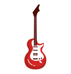 electric guitar instrument isolated icon vector image vector image