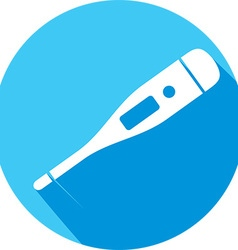 Electronic thermometer icon vector