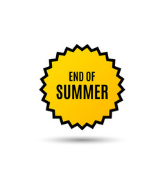 End of summer sale special offer price sign vector