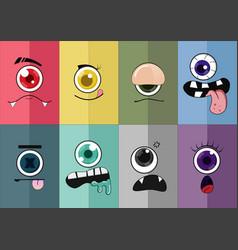 eye cartoon 02 vector image