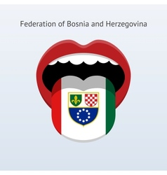 Federation of Bosnia and Herzegovina language vector