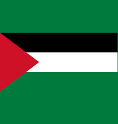 Flag of palestine in official rate and colors vector